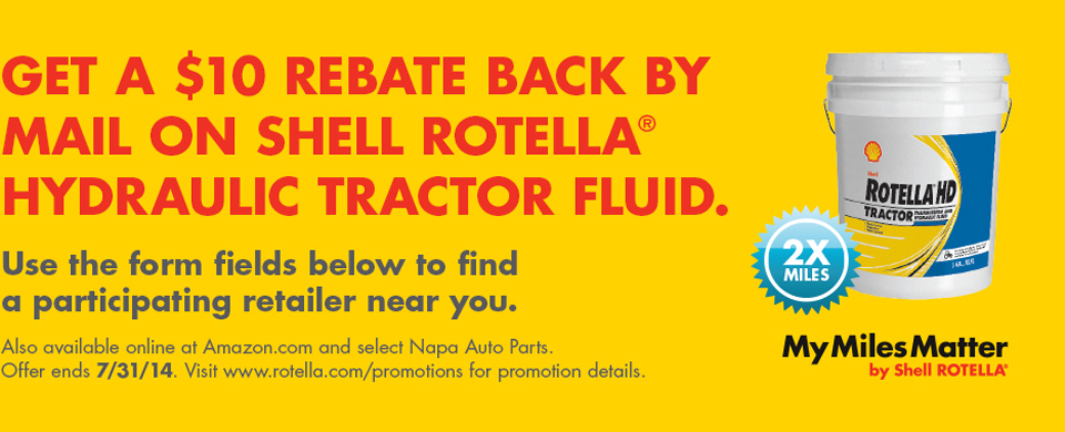 Get a $10 rebate on Shell Rotella