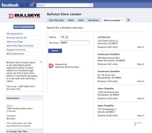 Store Locator App For Facebook
