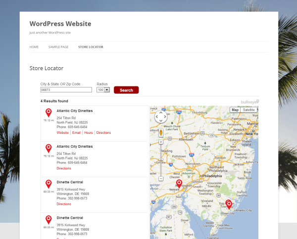 Add a WordPress Store Locator in 5 Minutes with Bullseye