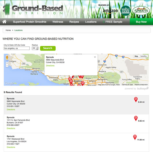embeddable interface store locator