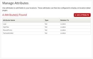 custom attributes screen