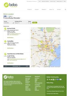 Boba store locator screenshot