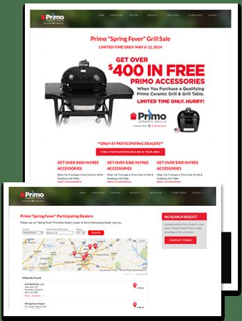 primo ceramic grills dealer locator promotion