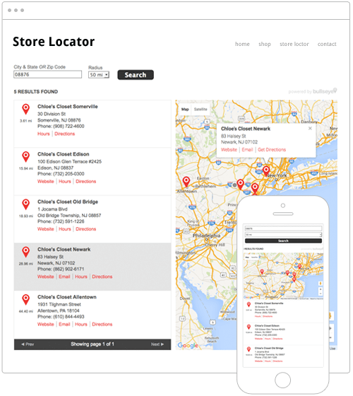 Side Map Store Locator Software