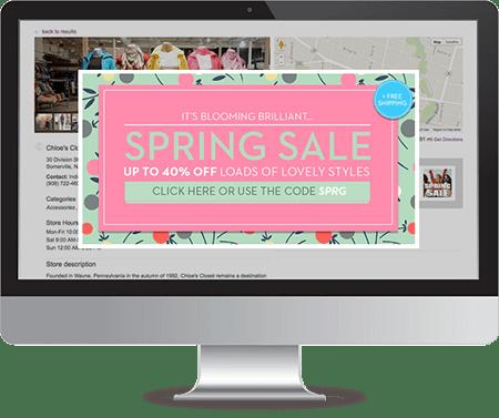 dealer locator software promotions screens
