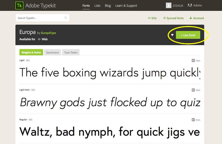 adobe typekit fonts