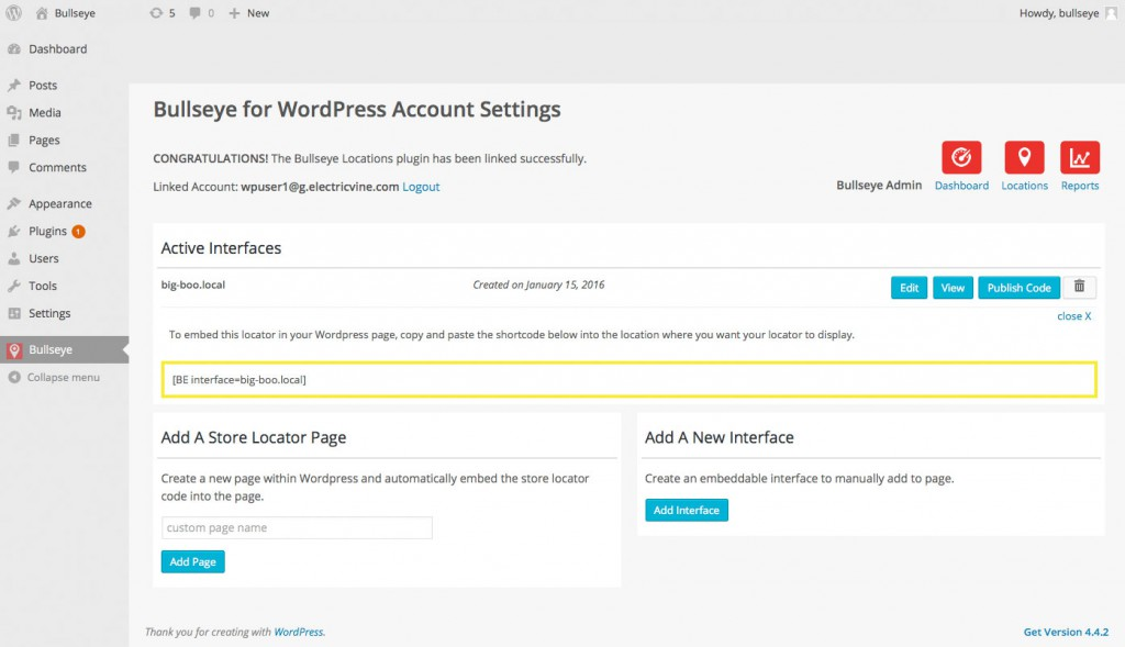 bullseye wordpress store locator plugin screenshot