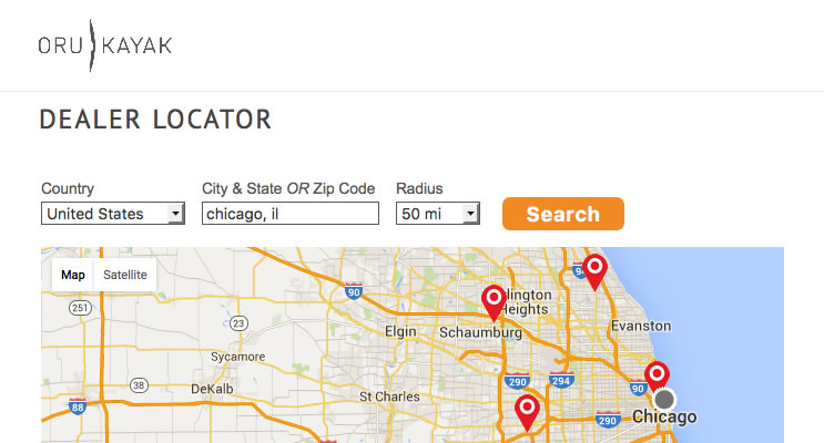 Oru Kayak Dealer Locator