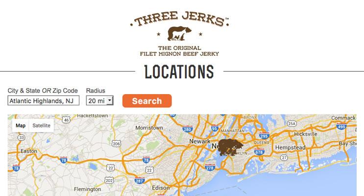 Three Jerks Jerky Store Locator