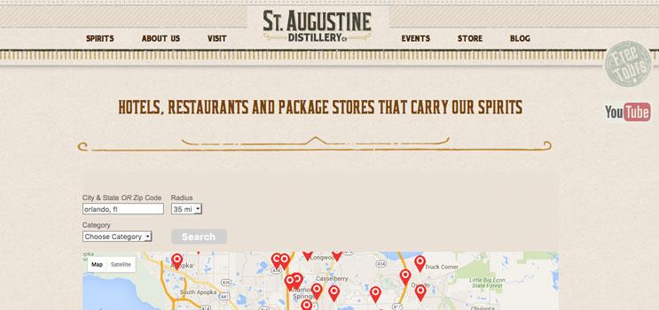 St. Augustine Craft Beverage Store Locator