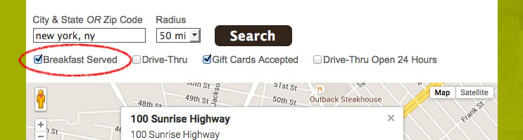 Store / Dealer Locator Best Practices #3: Provide Location Search Filtering Options