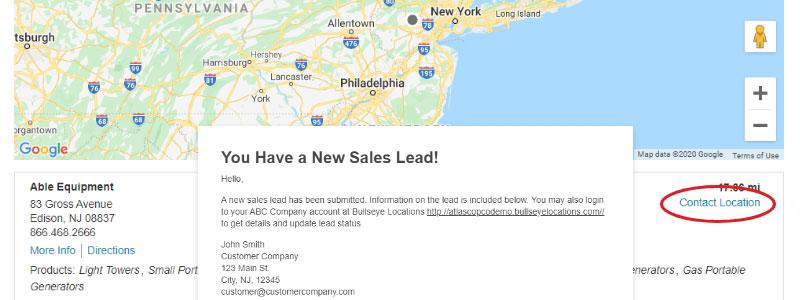 Store / Dealer Locator Best Practices #9: Leverage Powerful Lead Generation Capabilities