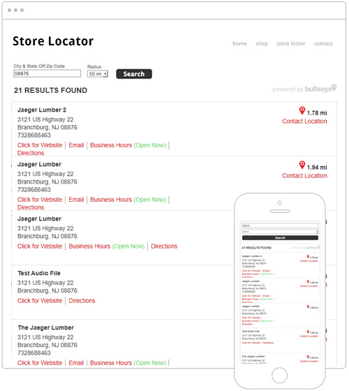 List Only Store Locator Software