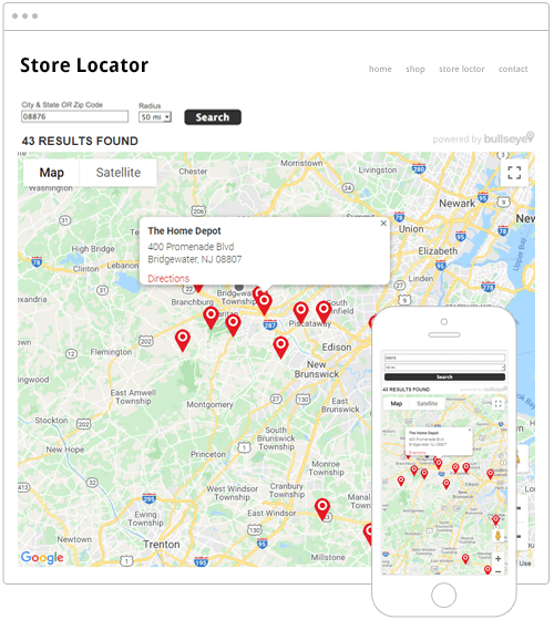 Map Only Store Locator Software